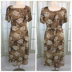 Suhi USA Womens Shift Lagenlook Maxi Dress Brown